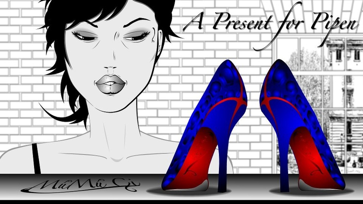 "Múmú & Pipen have a friend, ""Heba"" and she told Múmú about a pair of shoes that Pipen would just love.... what do you think?"