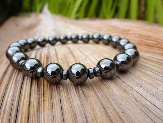 Mens Bracelet Hematite Bracelet Mens Jewelry Mens by MasculineWear