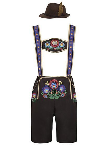 You'll definitely deserve to be best dressed at any fancy dress party in this brilliant lederhosen style costume. The lederhosen style shorts come with authe...