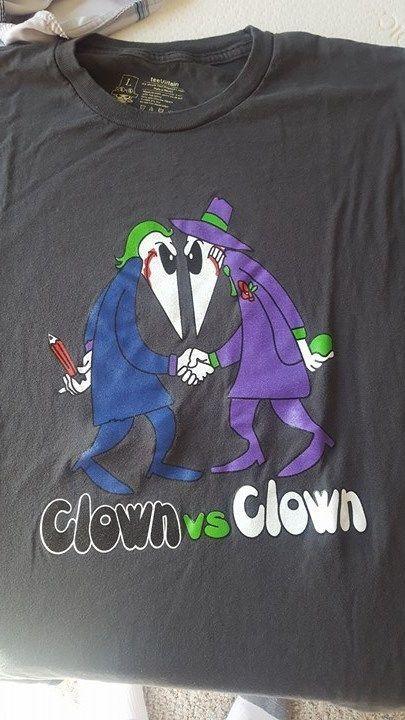 Batman Joker Clown v Clown mashup t-shirt L | Clothing, Shoes & Accessories, Men's Clothing, T-Shirts | eBay!