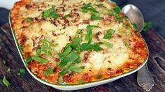 Shepherd's pie med blomkål på toppen
