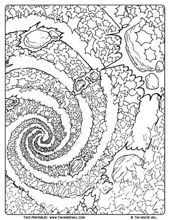 Galaxy Coloring Page For Adults Tim S Printables Coloring Pages