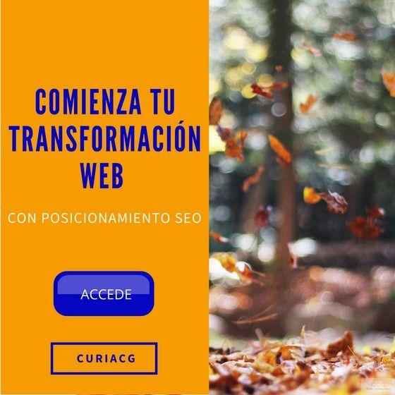 Comienza tu Transformación Web con #PosicionamientoSEO. El Posicionamiento SEO trata de ayudar a los buscadores a comprender mejor para qué existe tu web, a quién puede ayudar y la fiabilidad de su contenido.