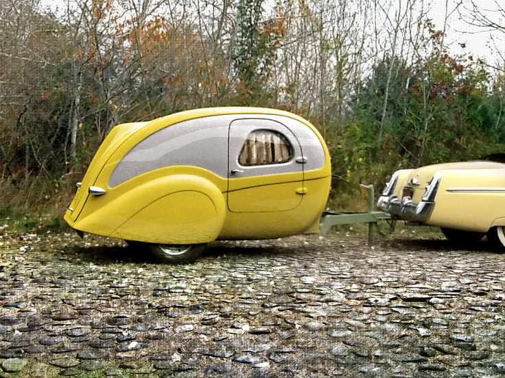 Aerolux Teardrop Trailer 1940`s Styled DIY Kit  A sleeper for two and thats it. www.batsbirdsyard.com = Bat Houses.