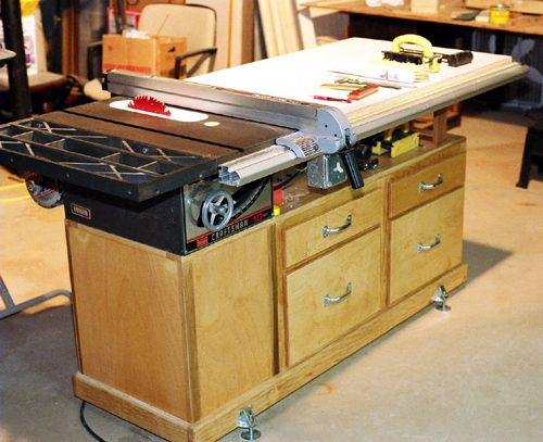 Tablesaw workstation woodworking projects plans for Table saw workbench woodworking plans