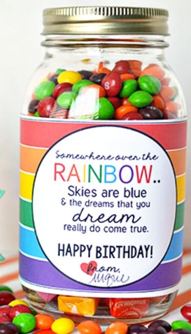Rainbow Inspired Birthday Gift and Printable