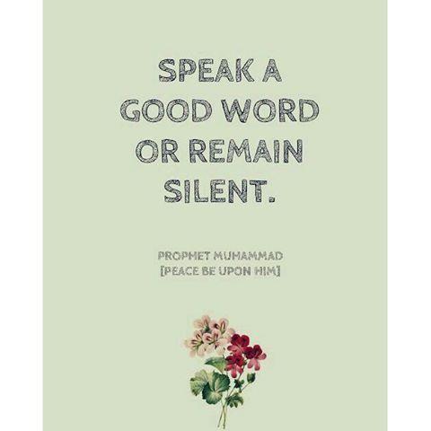"""Salam Jumaat. """"Bicara yang baik atau diam"""" #imanevi"""