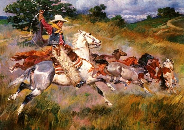 On the Prairie- Jerzy Kossak