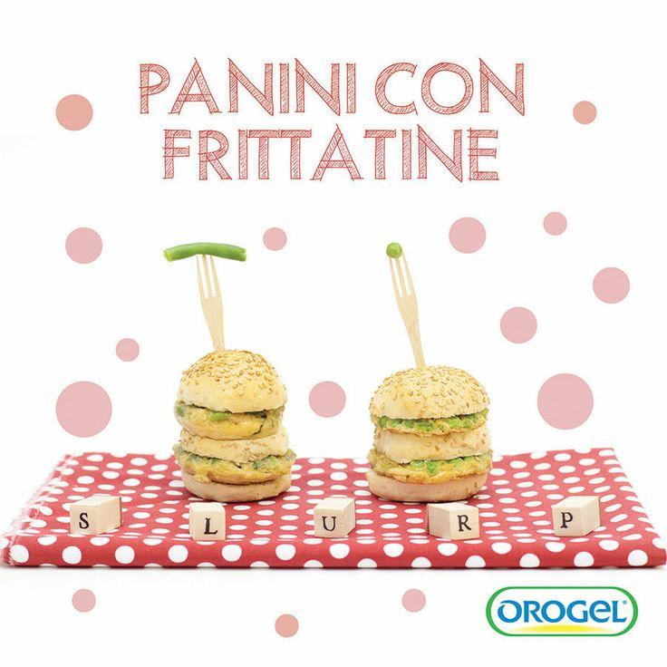 Panini con frittatine di #piselli e #fagiolini! #ricettebambini