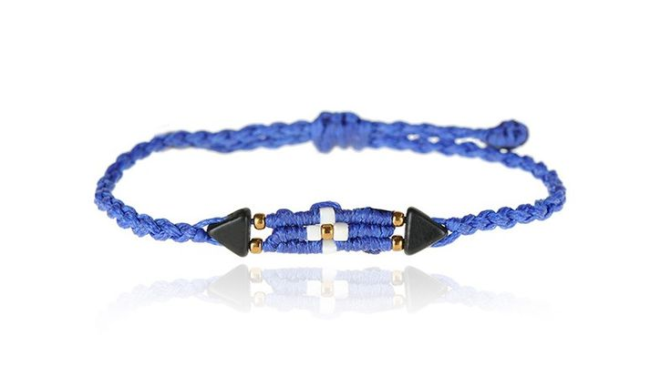 Zoe Kompitsi | Blue Cross Bracelet