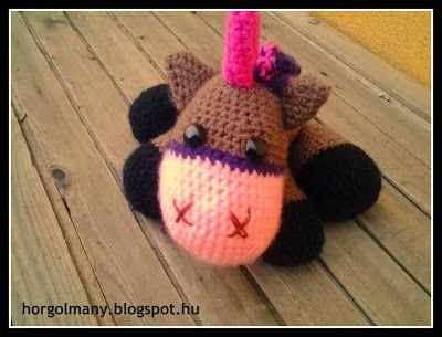 Horgolt egyszarvú - Crochet baby unicorn
