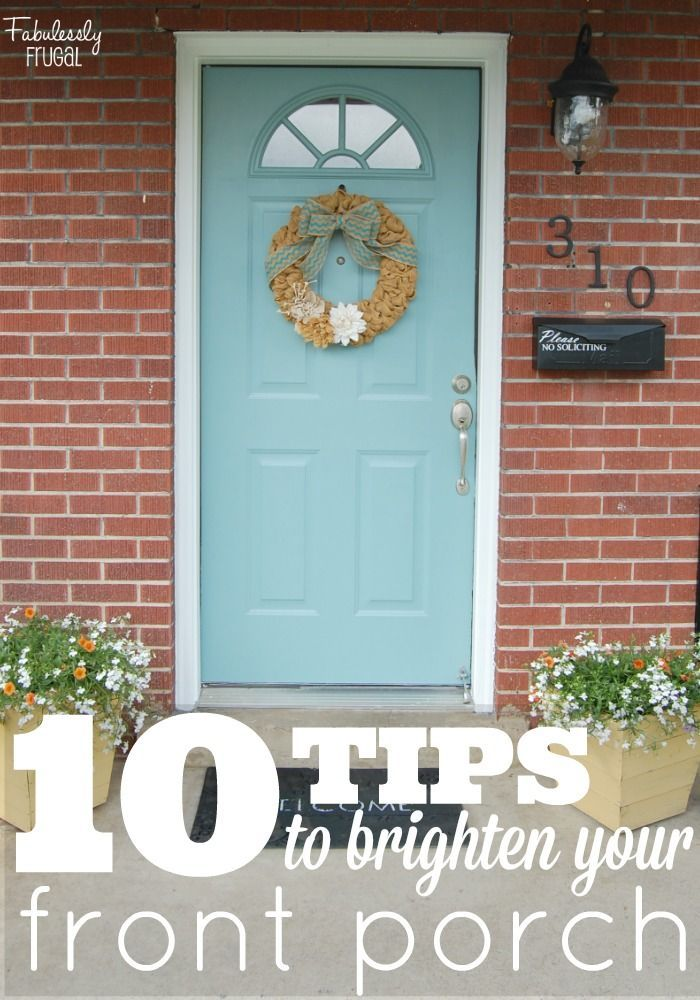 Learn how to give your house character and charm in just a few easy steps! Also, how to paint a metal front door.