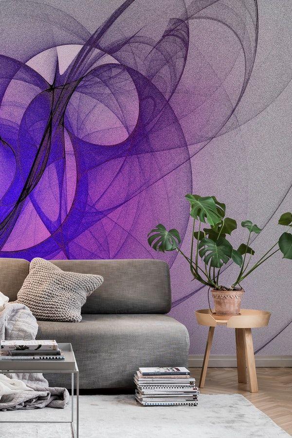 Purple Fractal Abstract Wall Mural Abstract Wall Murals Wallpaper