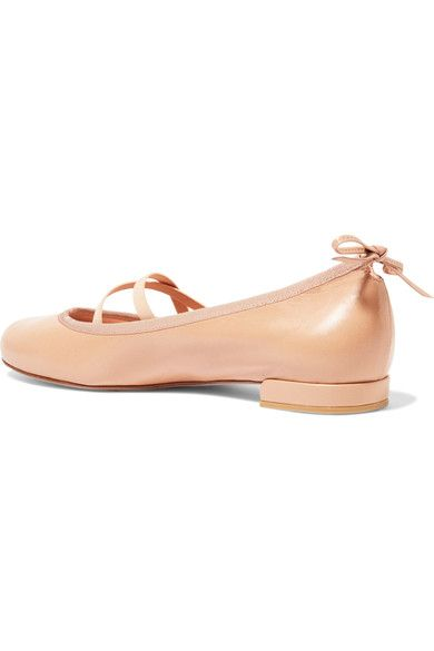 Stuart Weitzman - Bolshoi Leather Ballet Flats - Beige - IT38.5
