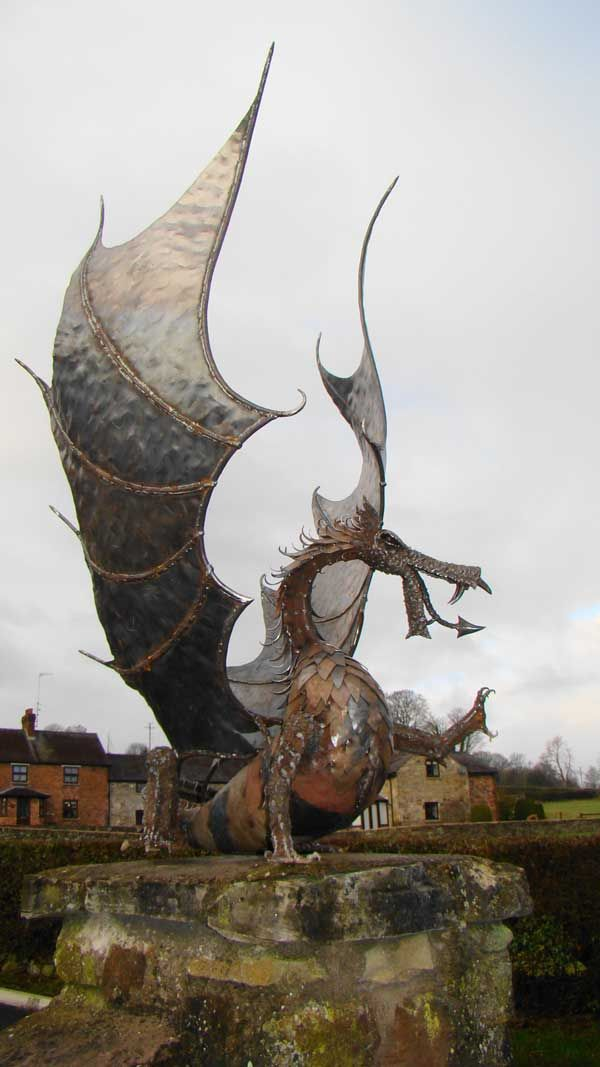 Hand-crafted Steel Dragon Sculptures - They are made from steel. Lovingly…