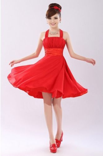 Slim-Short-Toast-Clothing-Sweet-Bridesmaids-Wedding-Dress-Formal-Occasions