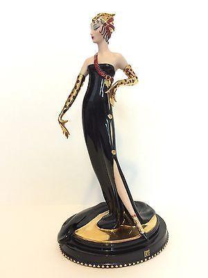 House Of Erte Art Deco Porcelain Figurine Untamed Beauty