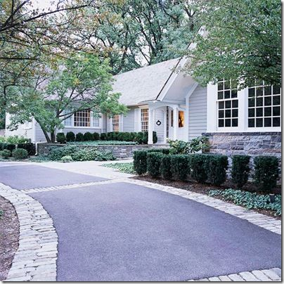 pavers beside driveway to widen