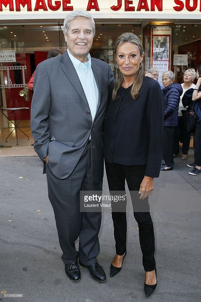 Actor Jean Sorel and his partner Patricia Balme attends the Tribute to French Actor Jean Sorel at Mac Mahon Cinema on September 25, 2016 in Paris, France.