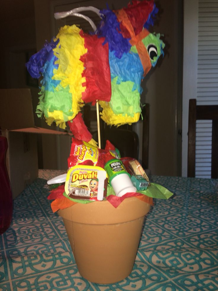 Mexican fiesta table centerpieces. Birthday party theme.