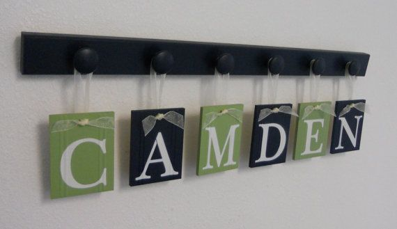 Childrens Personalized Decor Name Signs Includes 6 by NelsonsGifts