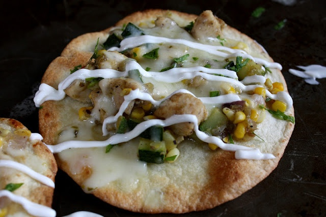Chicken And Summer Vegetable Tostadas Recipe — Dishmaps
