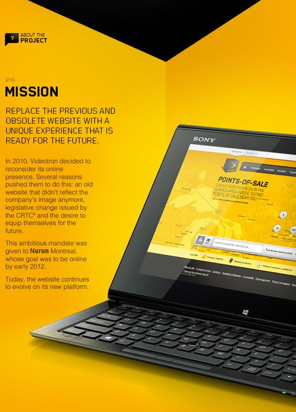 Videotron.com on Behance