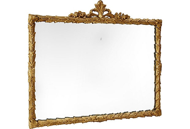 "Fleur-de-Lis Wood Gilt Finish Framed Mirror (35""Lx2""Wx41.5""H) $625: Wood Gilt, Fleur De Li Wood"
