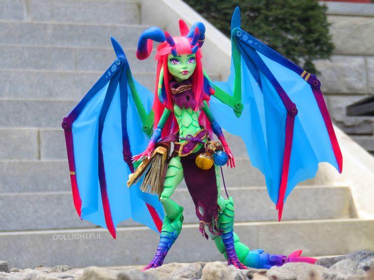 Aurora The Dragon Custom Repaint Ooak Monster High Venus