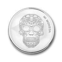 Skull Fire Silver Mi-Moneda -Handmadebeads