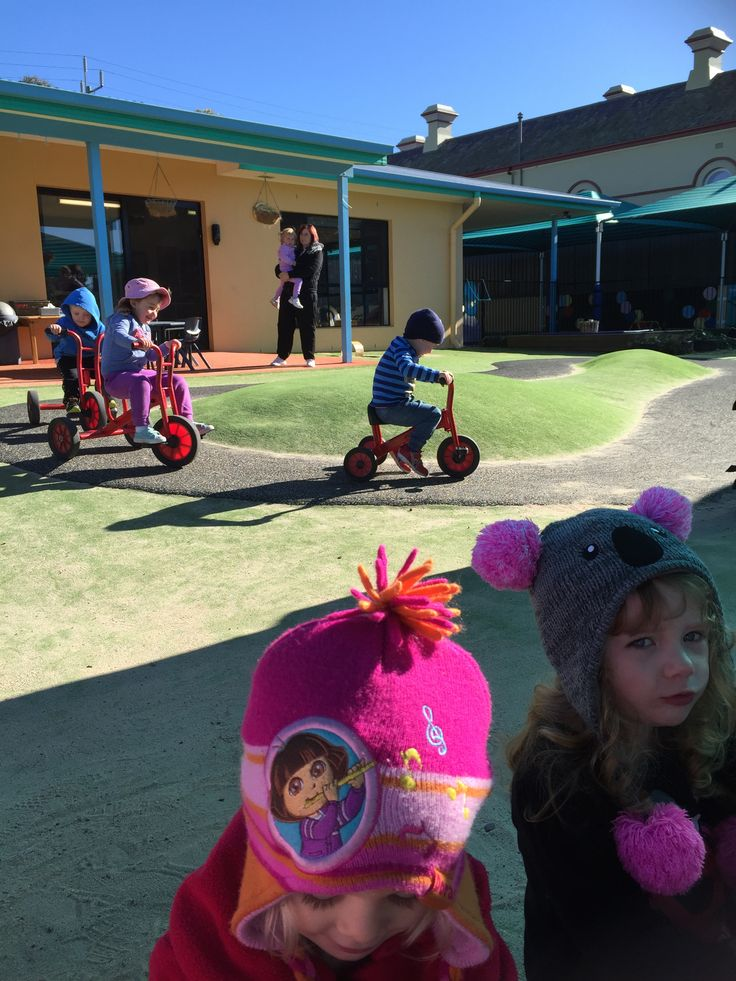 Tricycle Races. At the beginning of this activity children encouraged to ride tricycles on the flat and eventually they taken to sloping part of the path that has a curve. Children that feel more confident riding the tricycle encouraged to navigate slopes and curves and praised for their efforts. Following that children encouraged to ride the circle in the mock race were everyone praised as  a winner.