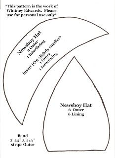 Whitney Sews: Newsboy Hat Pattern: Hats, Sewing Projects, Sewing Pattern, Hat Patterns, Sewing Ideas, Whitney Sews