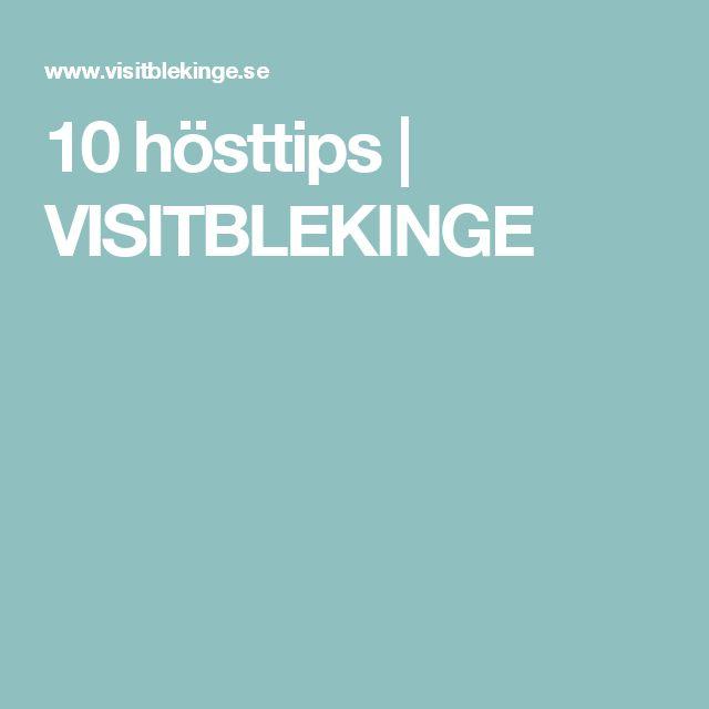 10 hösttips | VISITBLEKINGE