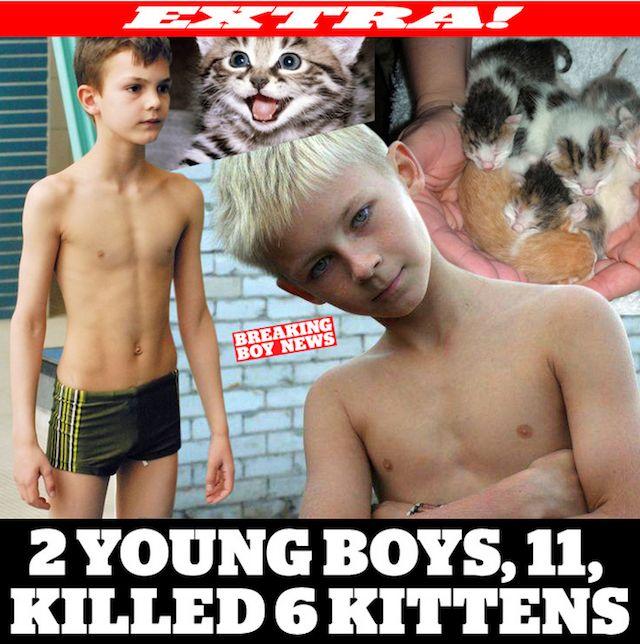 Je publie un magazine plein de jeunes garçons à moitié à poil