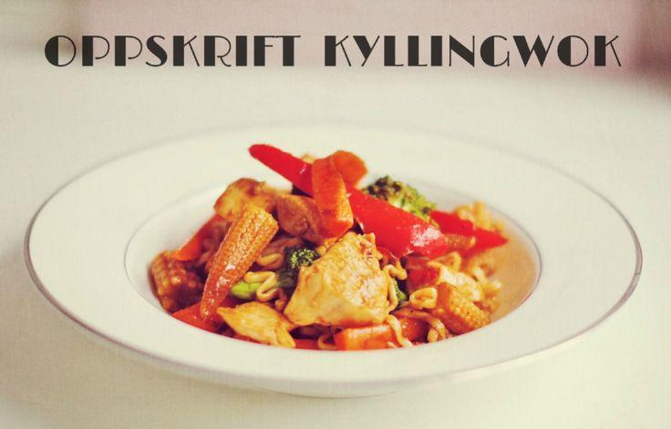 Oppskrift: Kyllingwok
