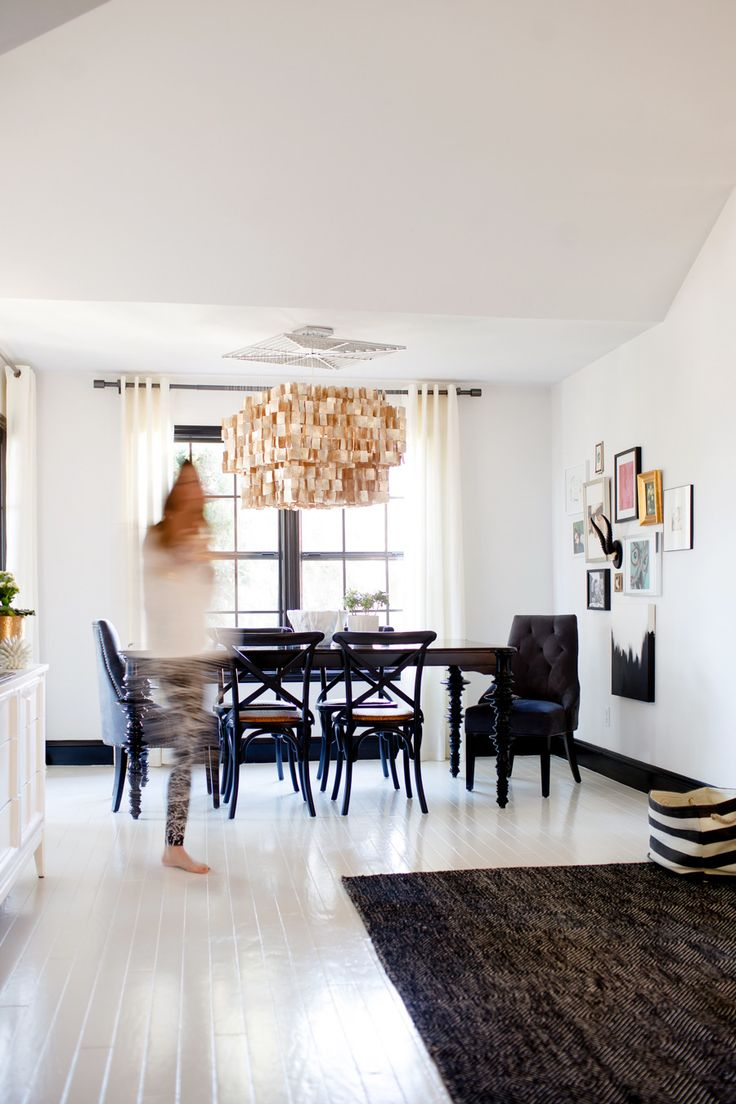 Black + White Home  Read more - http://www.stylemepretty.com/living/2014/03/19/black-white-home/