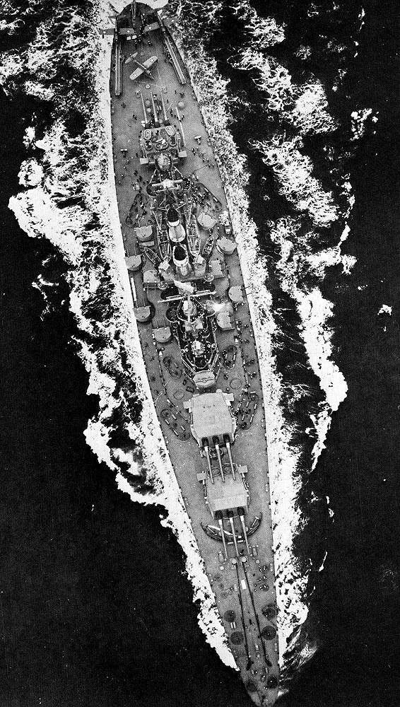USS North Carolina (BB-55) underway USS North Carolina (BB-55) underway, April 1942