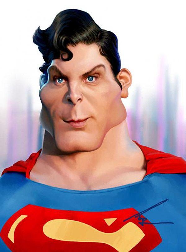 Caricatura de Superman.