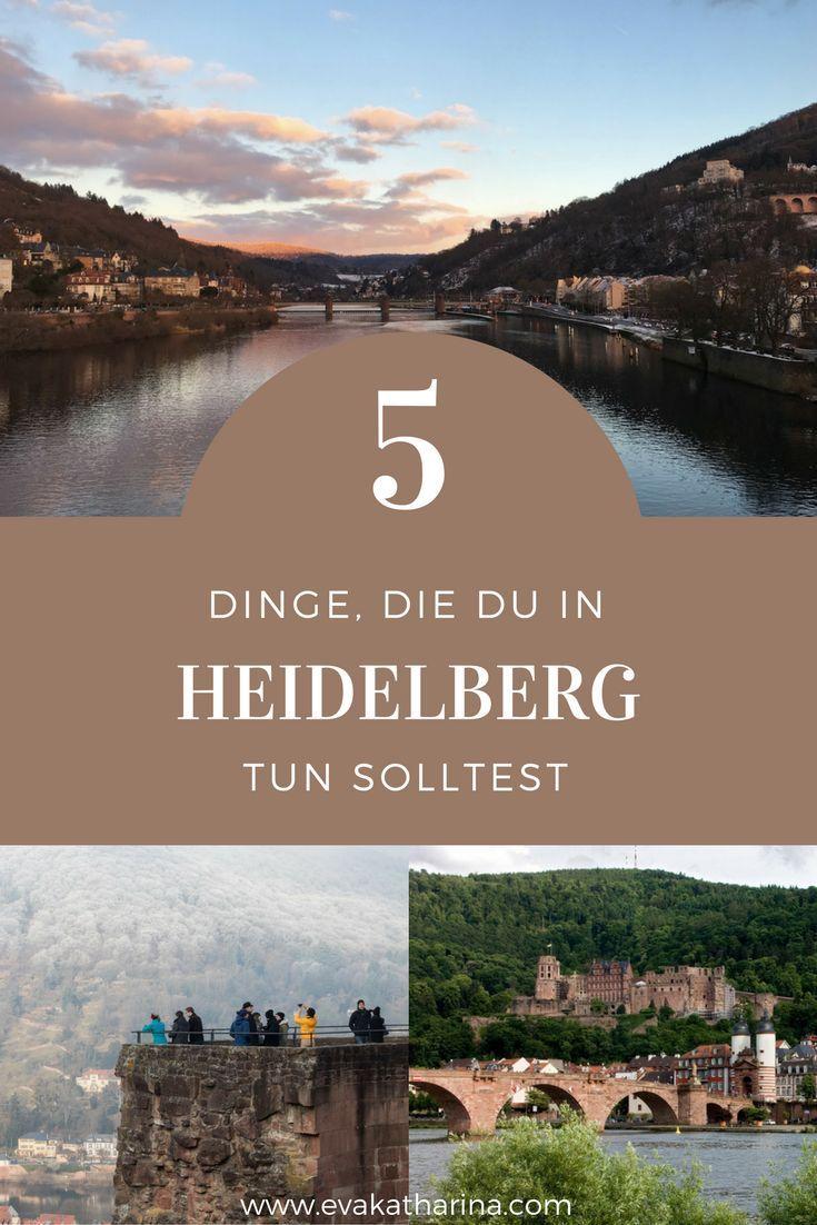 Eine wunderschöne Altstadt, eine der ältesten Universitäten Deutschlands und dazu noch ein tolles Schloss. Heute zeige ich dir 5 Dinge, die du in Heidelberg unbedingt mal tun musst!