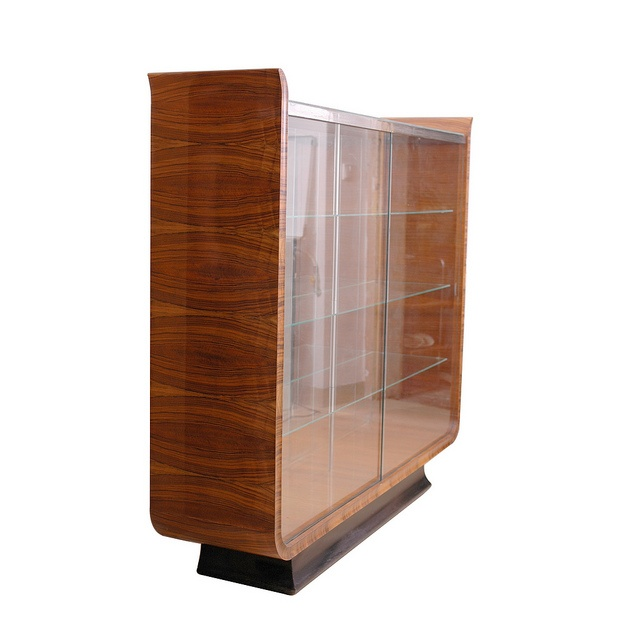 Rare Art deco glass cabinet by architect Jindřich Halabala. created at United Arts and Crafts Manufacture UP.