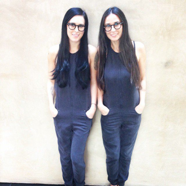 Pin for Later: 28 Celebrity Moms Who Are Nearly Identical to Their Kids Demi Moore and Rumer Willis