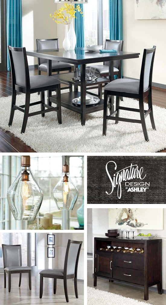 Dining Room Furniture   Bar Stools   Trishelle Gray Counter Height Dining  Room   Ashley Furniture