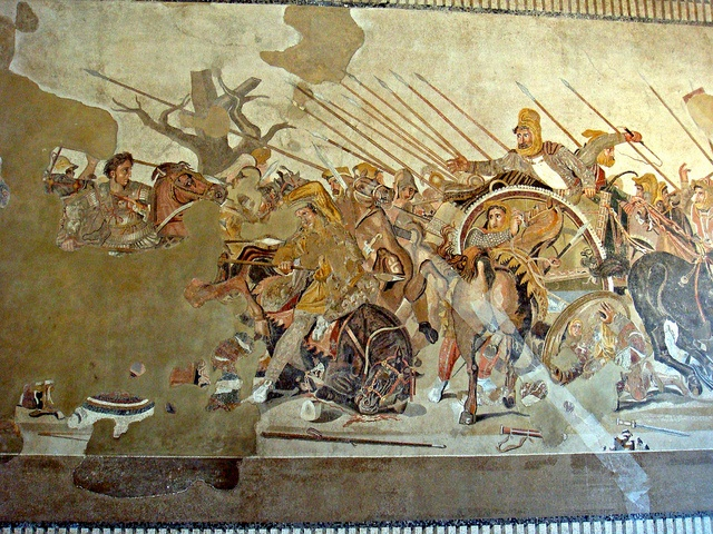 Alexander the Great fighting the Persian king Darius III
