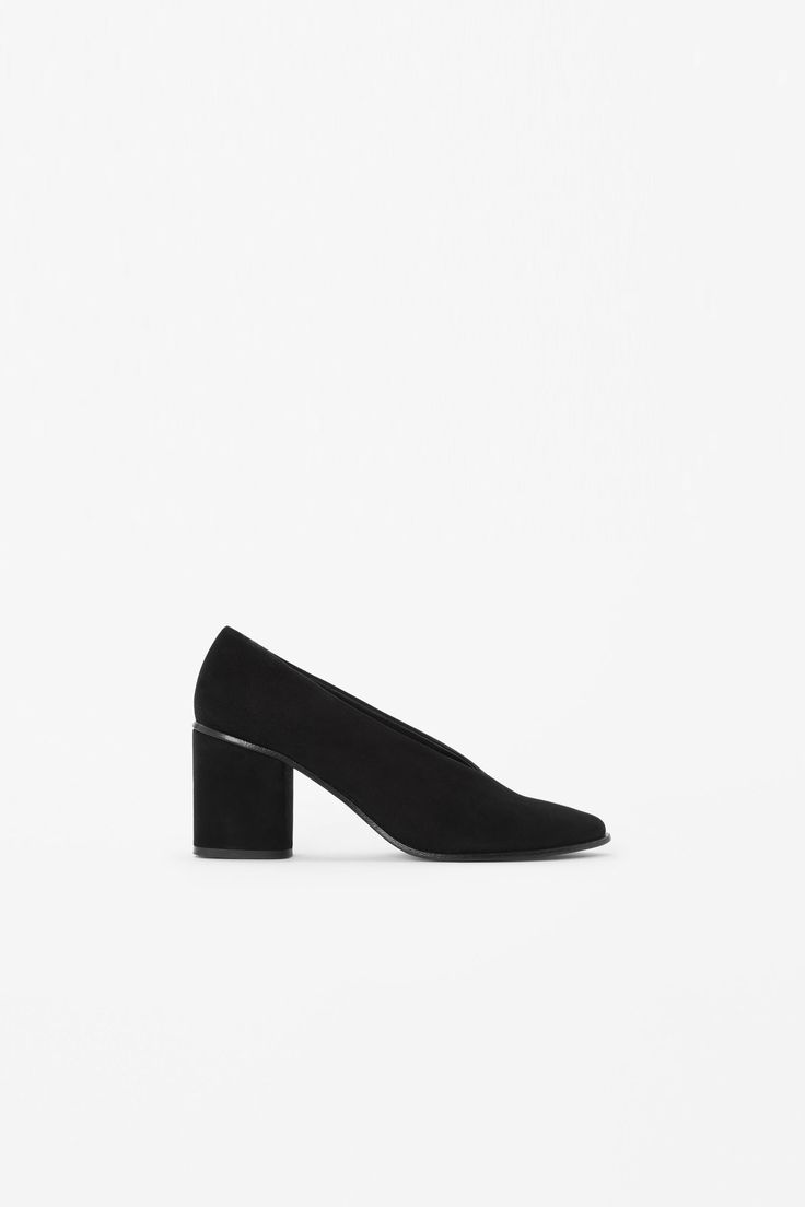 COS Musical Chairs | Chunky heel suede pumps