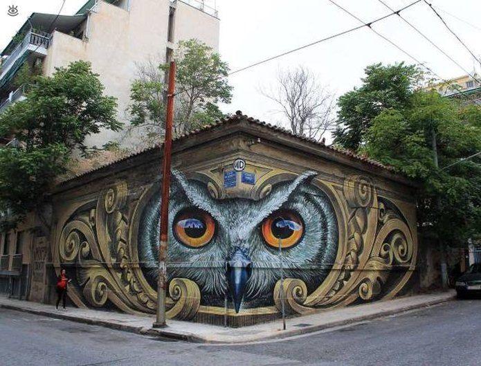 Граффити-сова