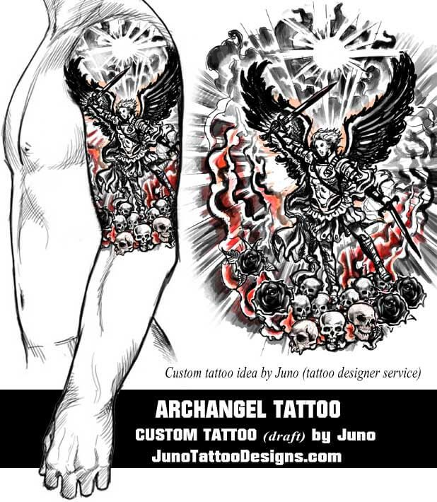 Tattoo Designs Online: 25+ Best Ideas About Archangel Tattoo On Pinterest