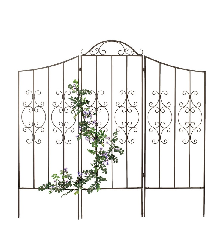 Burnished Bronze Finished Iron Montebello Trellis With Wings: Yard, Wings, Montebello Trellis, Gardens, Finish Irons, Gardening Outdoor, Irons Montebello, Bronze Finish, Burnish Bronze