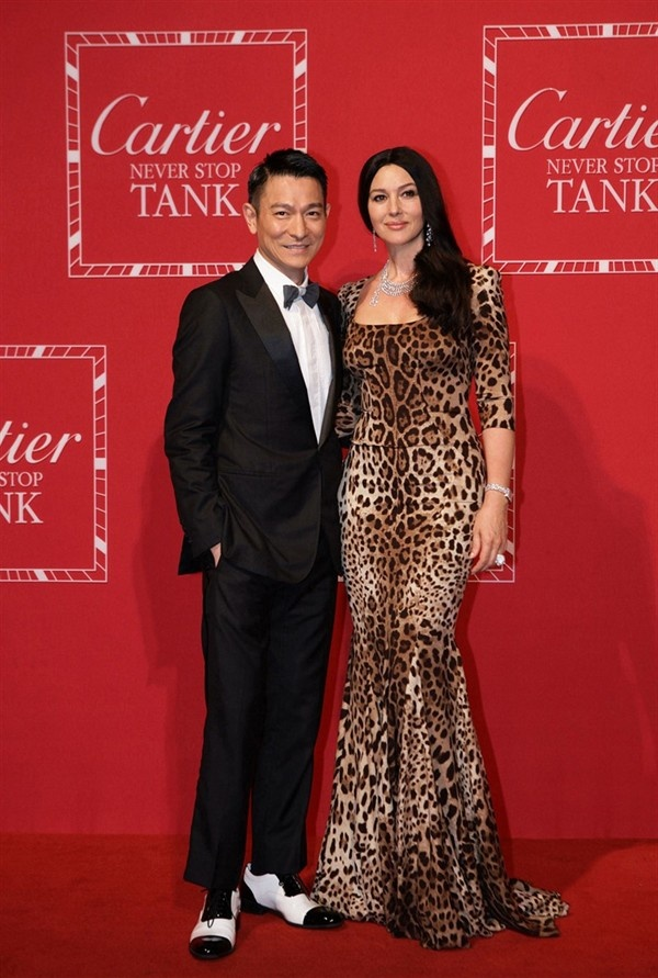 "Andy Lau and Monica Bellucci attending ""Never Stop - Cartier Tank Party"" in Shanghai"