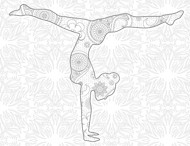 Yoga Coloring Book Pictures - Coloring 2018 - cargotrailer.us