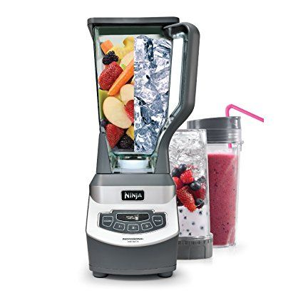 The Ninja Professional Blender & Nutri Ninja Cups BL660 is a professional, high-powered kitchen tool with 1100 watts of power. Its XL 72 oz.* Blender Pitcher features Total Crushing blades that blast through ice and frozen fruit in seconds for perfect ice crushing, blending, and controlled processing. Plus, its 16 oz. Nutri Ninja Cups with To-Go Lids make it easy to take delicious, nutrient-rich juices on the go. All parts are BPA free and dishwasher safe.  *64 oz. max liquid capacity  #ad